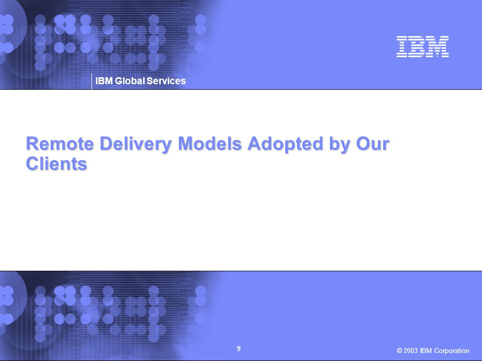 Remote Delivery Models Adopted by Our Clients