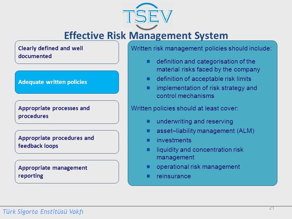 Effective Risk Management System