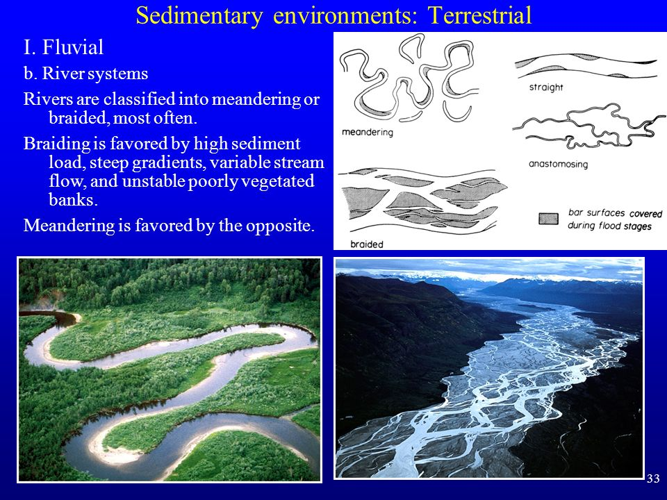 sedimentary environments Geologists look at environments existing today and the other sedimentary features help geologists determine the environment of deposition.