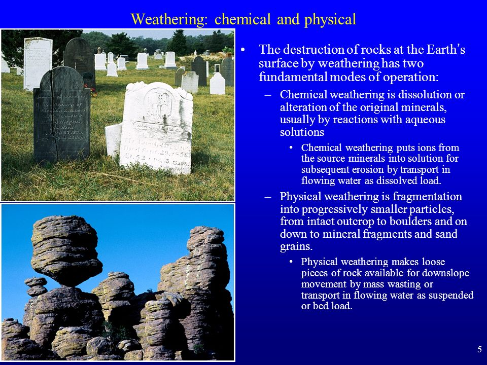 Weathering: chemical and physical