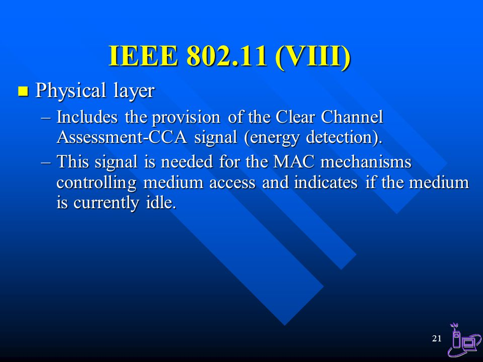 IEEE 802.11 (VIII) Physical layer