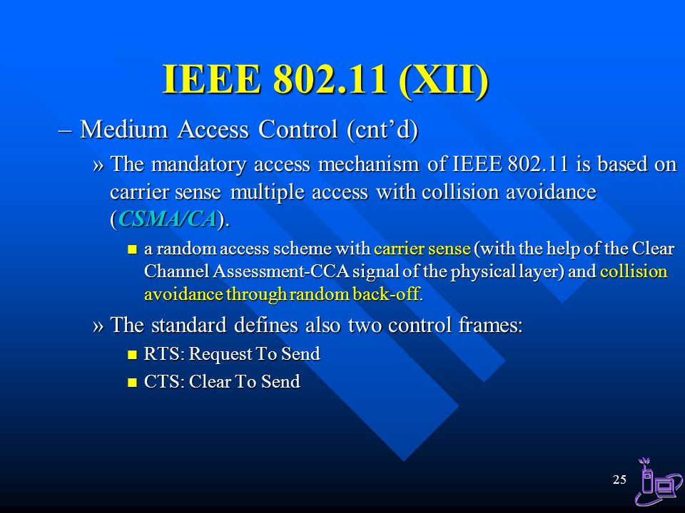 IEEE 802.11 (XII) Medium Access Control (cnt'd)