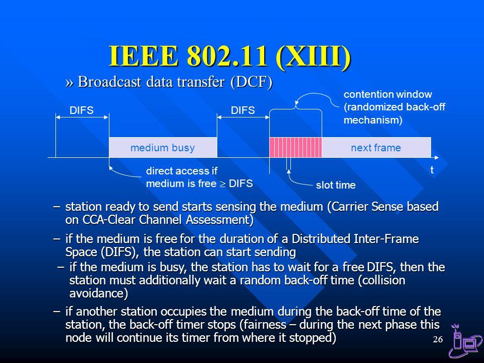 IEEE 802.11 (XIII) Broadcast data transfer (DCF)