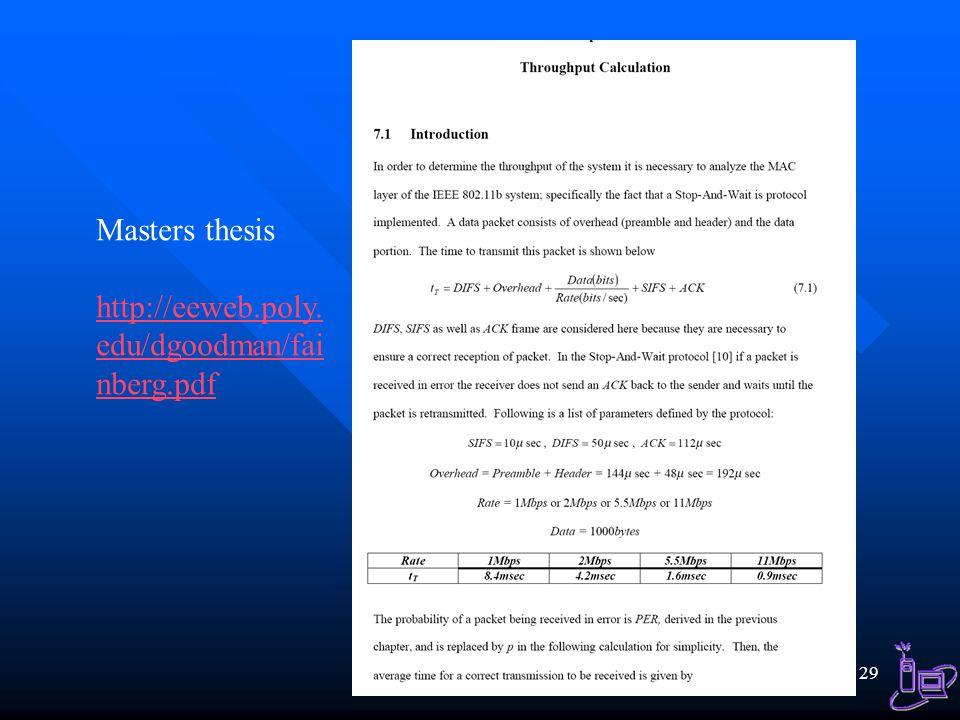 Masters thesis http://eeweb.poly.edu/dgoodman/fainberg.pdf