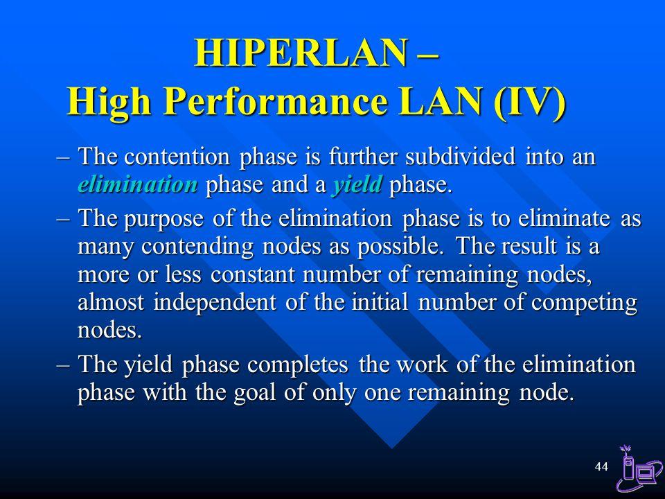 HIPERLAN – High Performance LAN (IV)