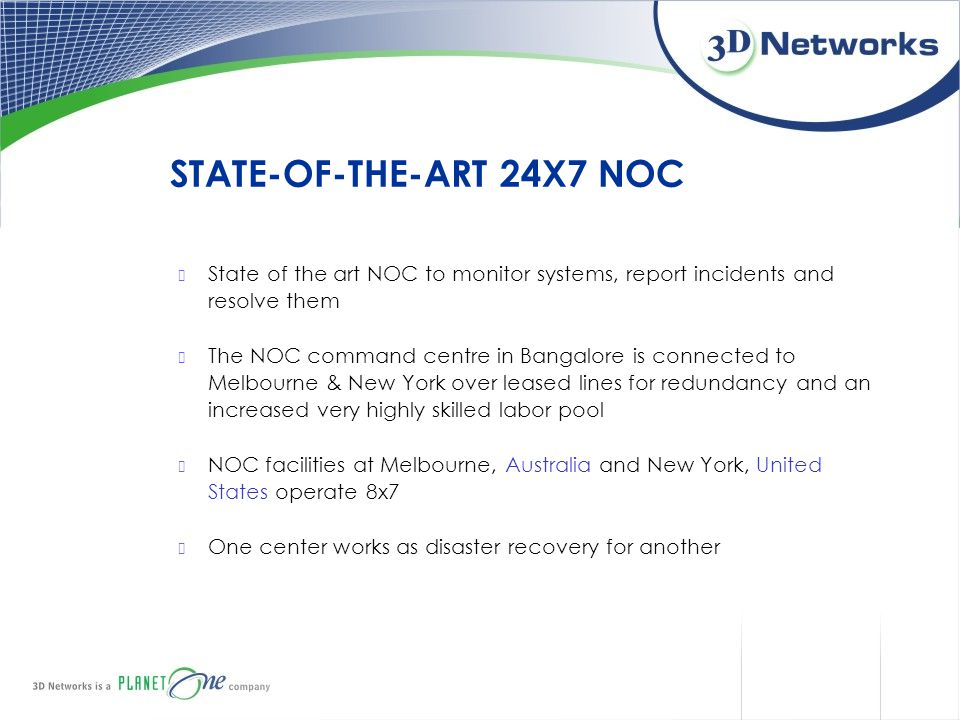 STATE-OF-THE-ART 24X7 NOC