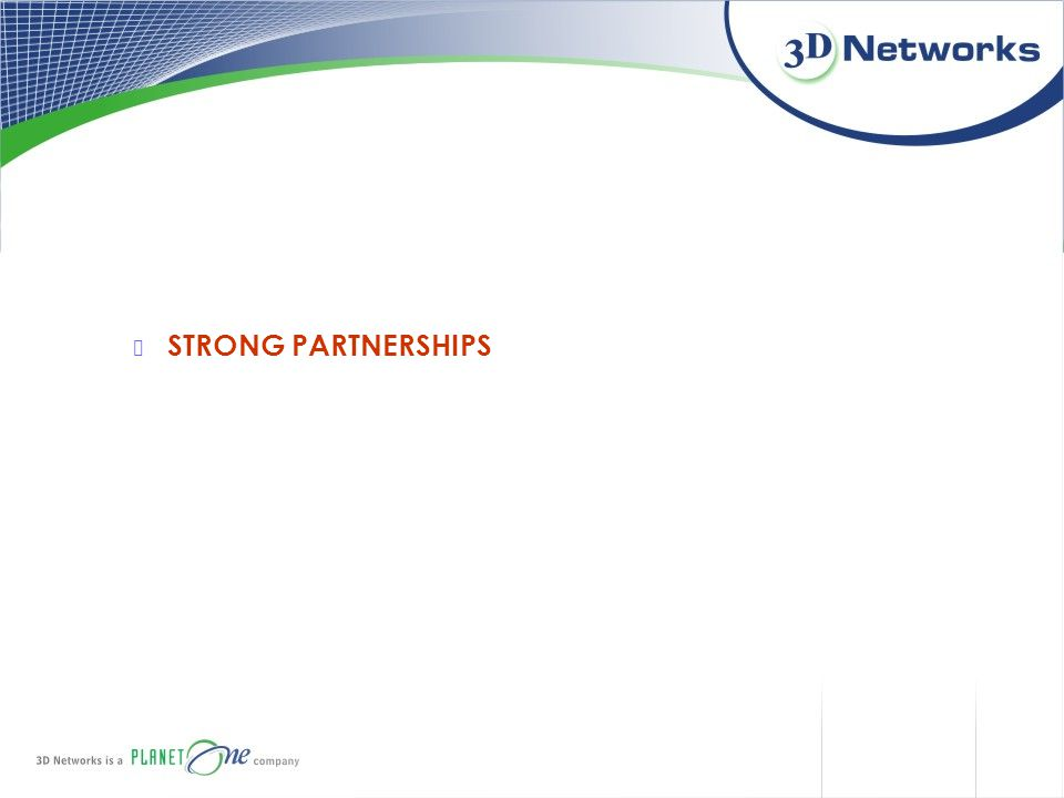 STRONG PARTNERSHIPS