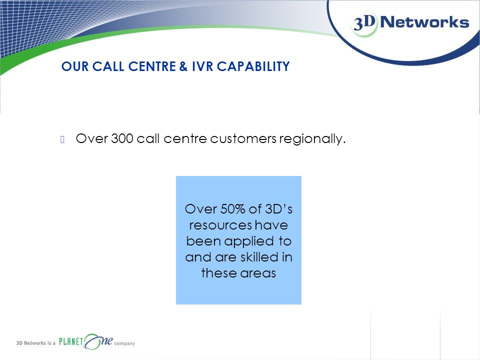 OUR CALL CENTRE & IVR CAPABILITY