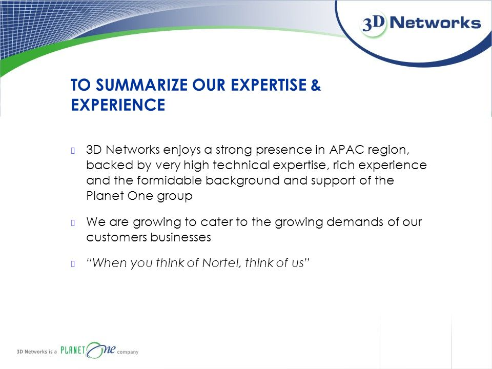 TO SUMMARIZE OUR EXPERTISE & EXPERIENCE