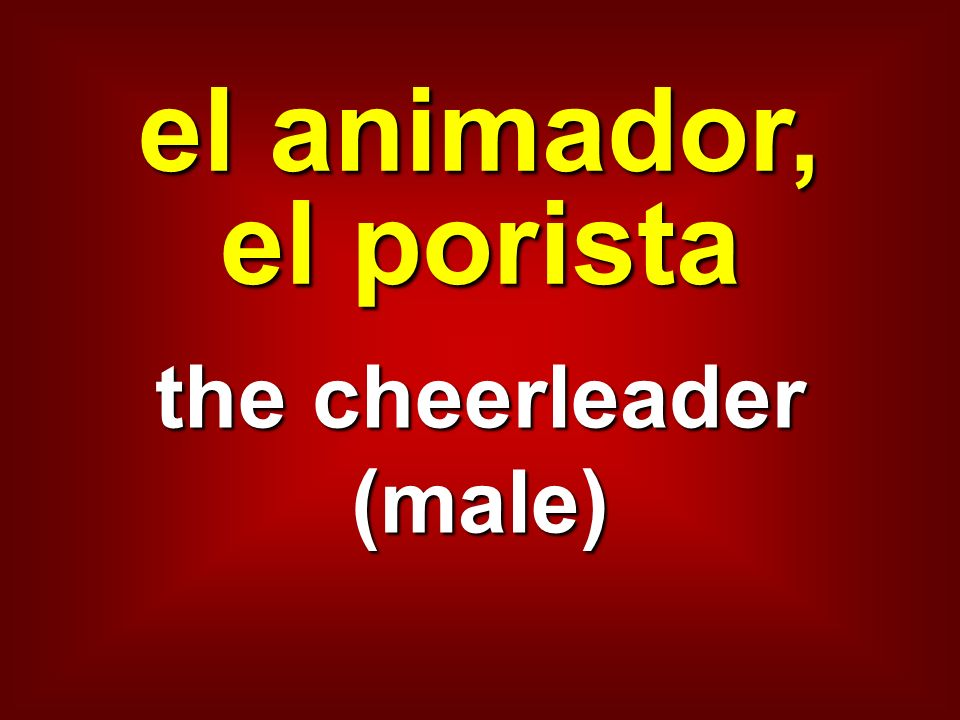 the cheerleader (male)