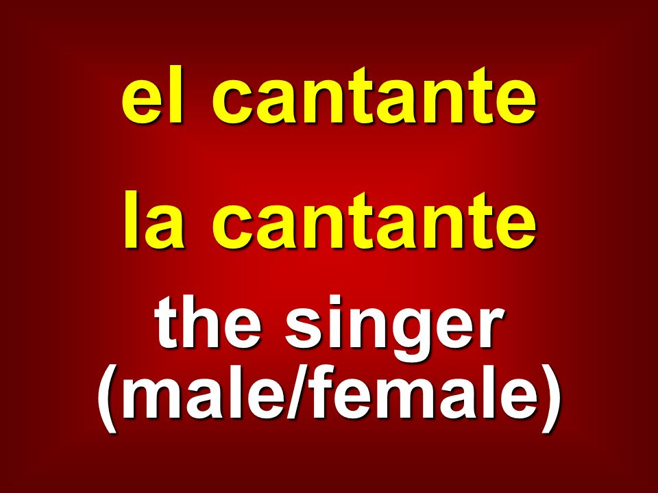 the singer (male/female)