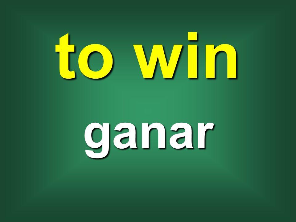 to win ganar