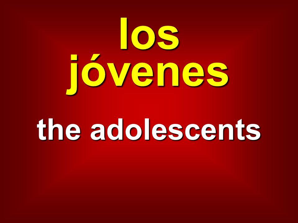 los jóvenes the adolescents