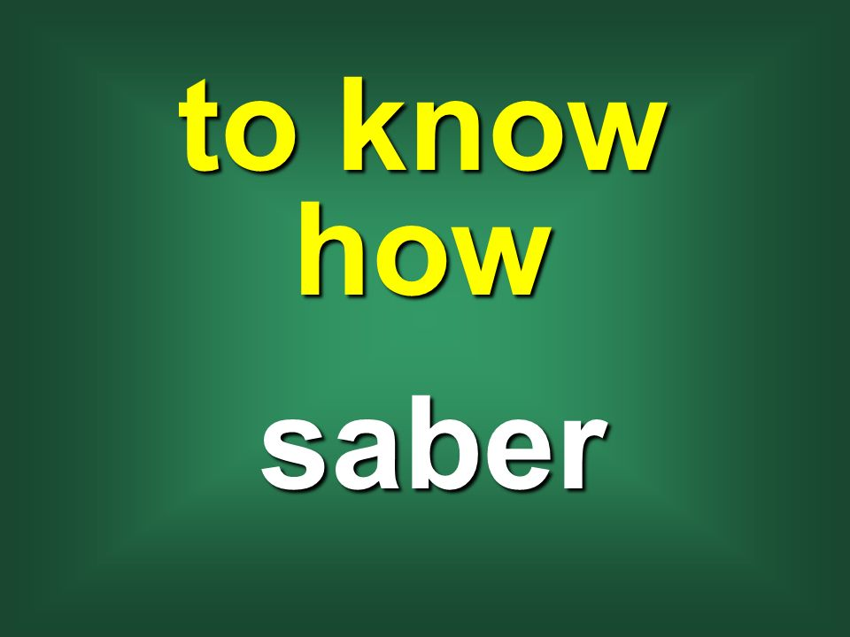 to know how saber