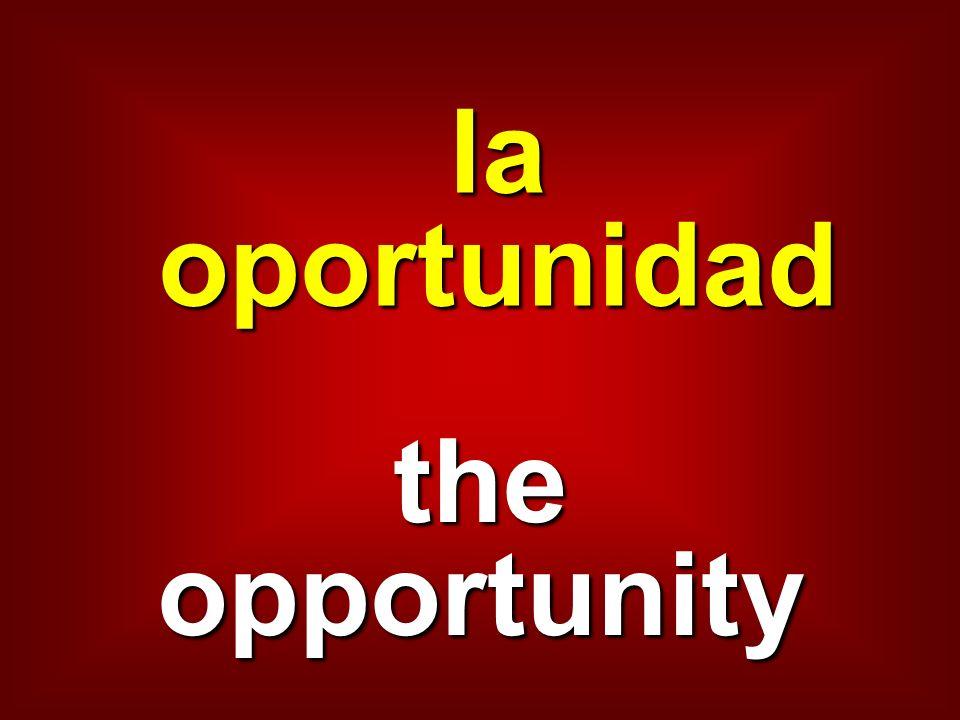 la oportunidad the opportunity