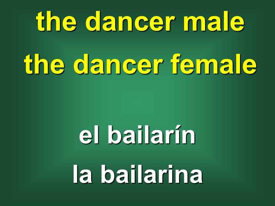 the dancer male the dancer female