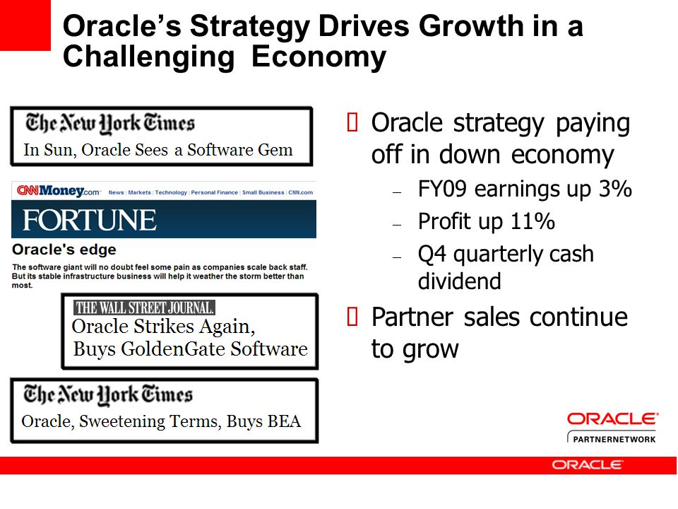 Oracle's Strategy Drives Growth in a Challenging Economy