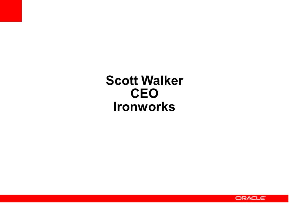 Scott Walker CEO Ironworks