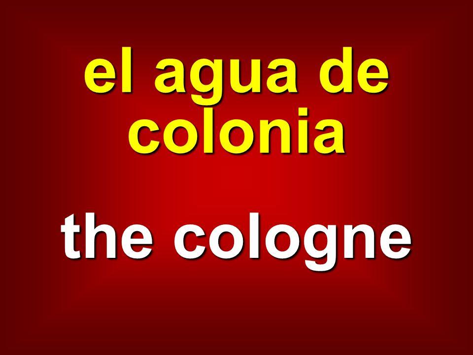 el agua de colonia the cologne