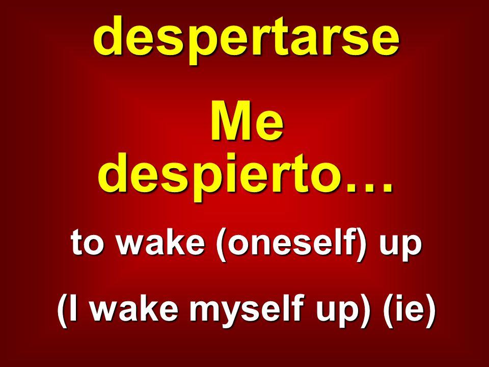 despertarse Me despierto…
