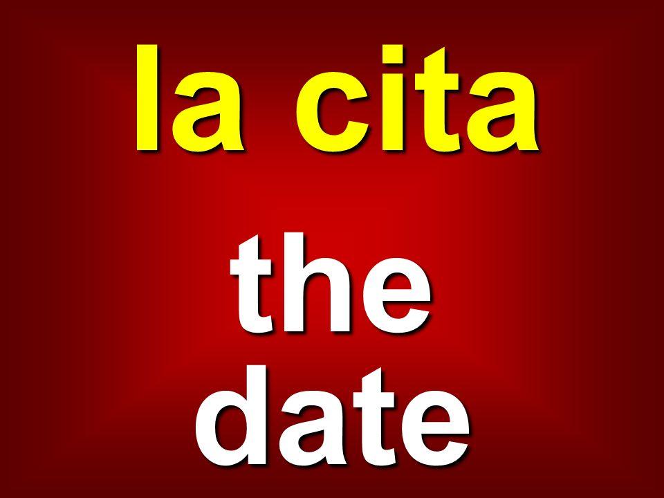 la cita the date