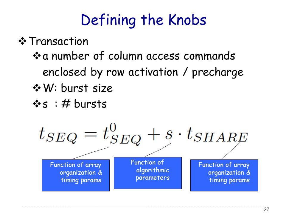 Defining the Knobs Transaction