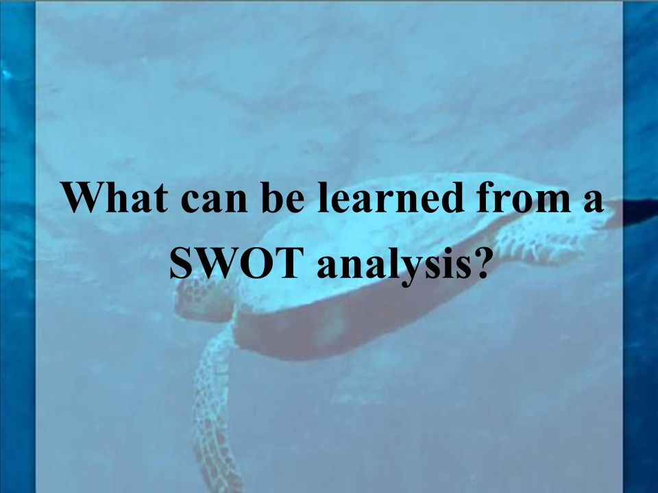 What can be learned from a SWOT analysis