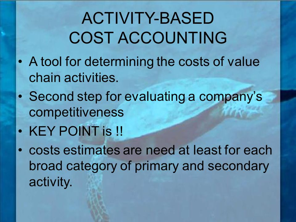 ACTIVITY-BASED COST ACCOUNTING