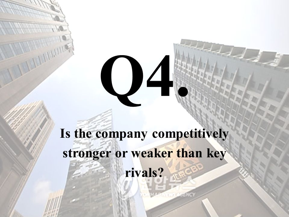 Is the company competitively stronger or weaker than key rivals