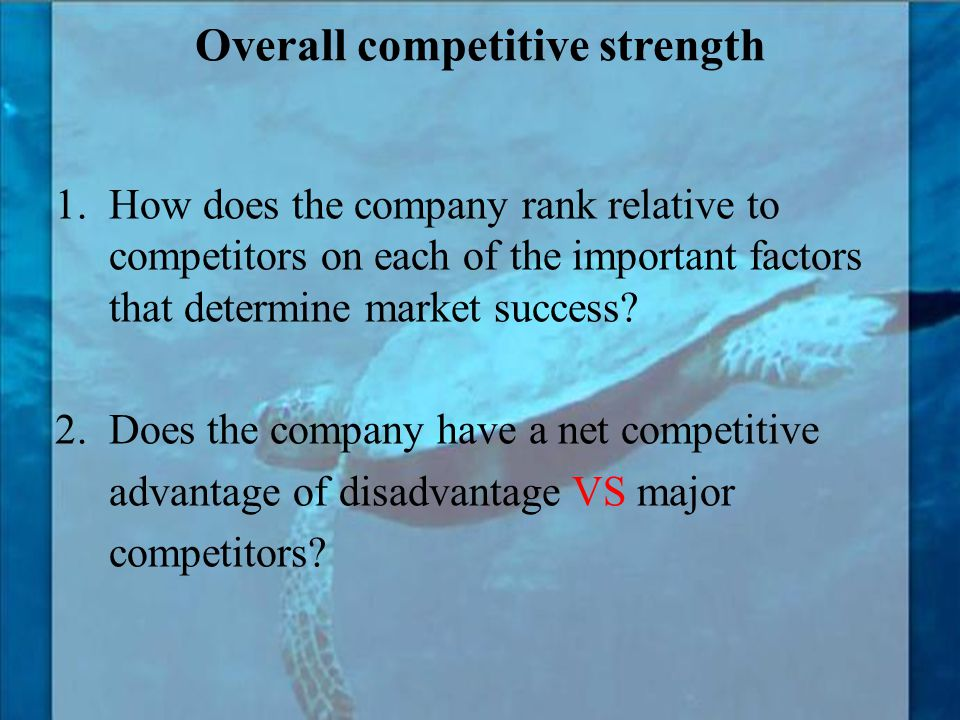 Overall competitive strength