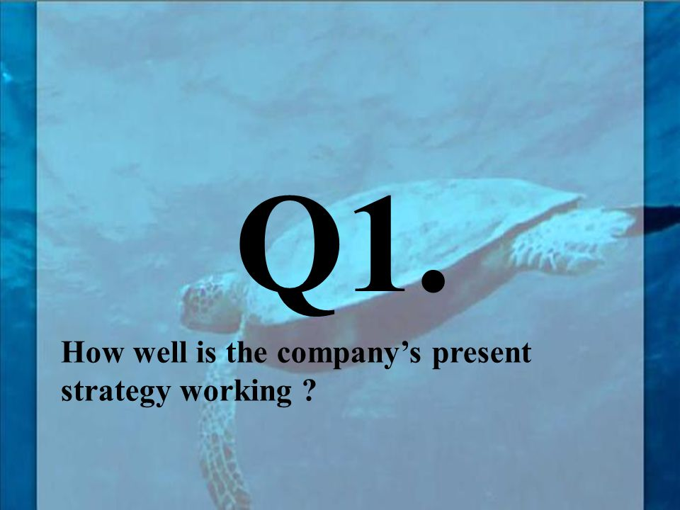 How well is the company's present strategy working