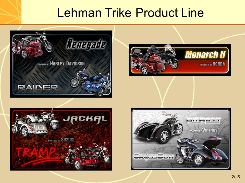 Lehman Trike Product Line