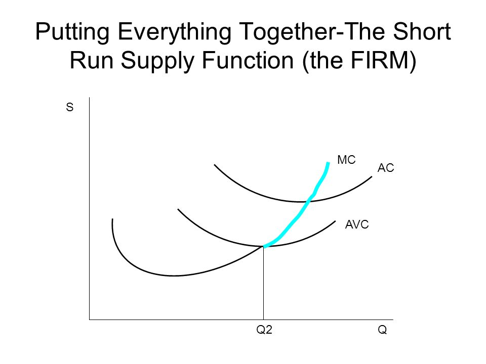 Putting Everything Together-The Short Run Supply Function (the FIRM)