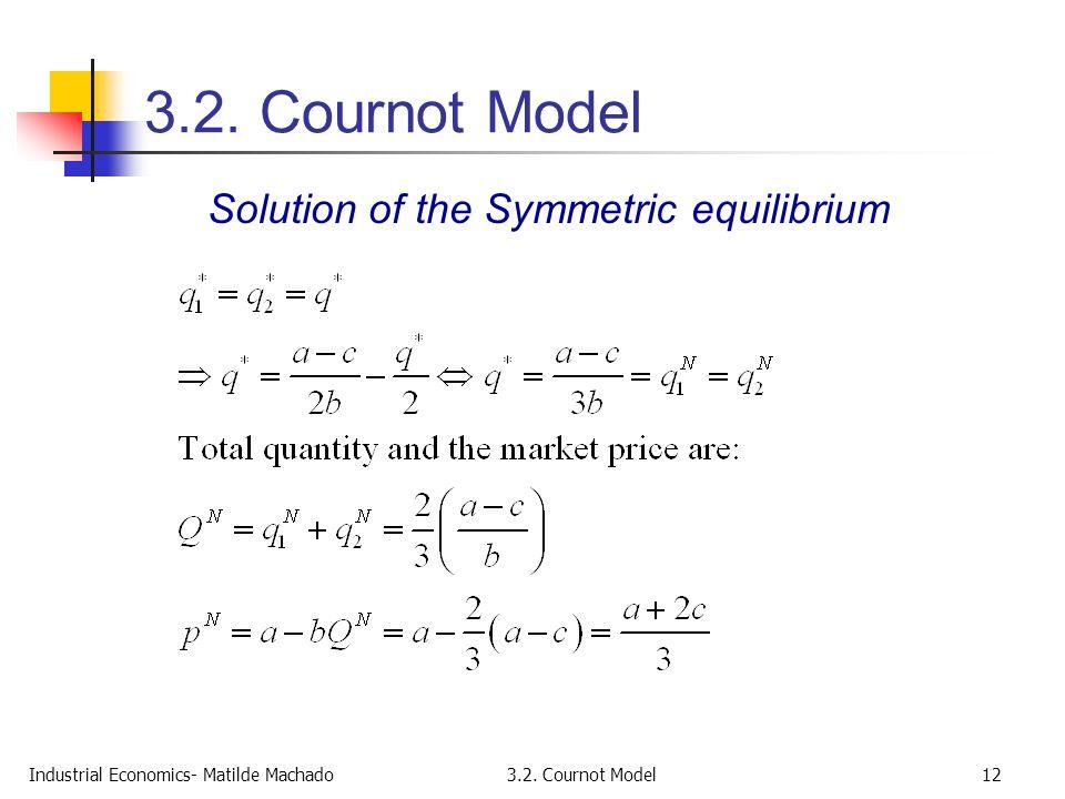 Solution of the Symmetric equilibrium