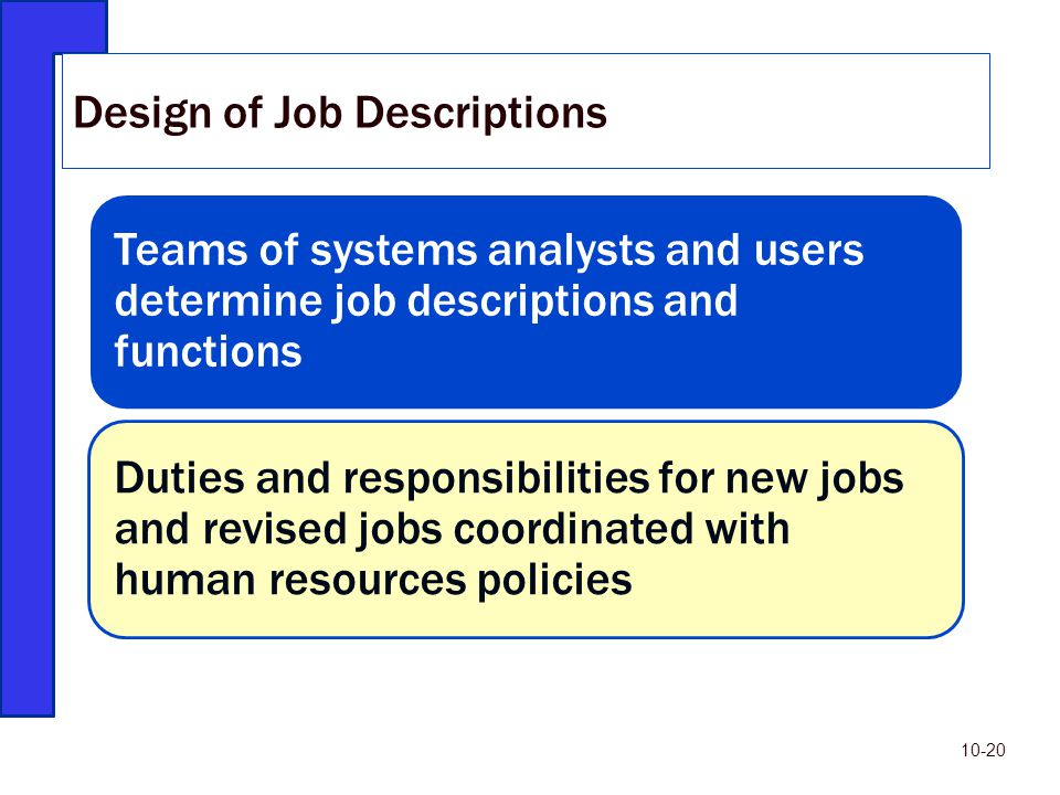 Design of Job Descriptions