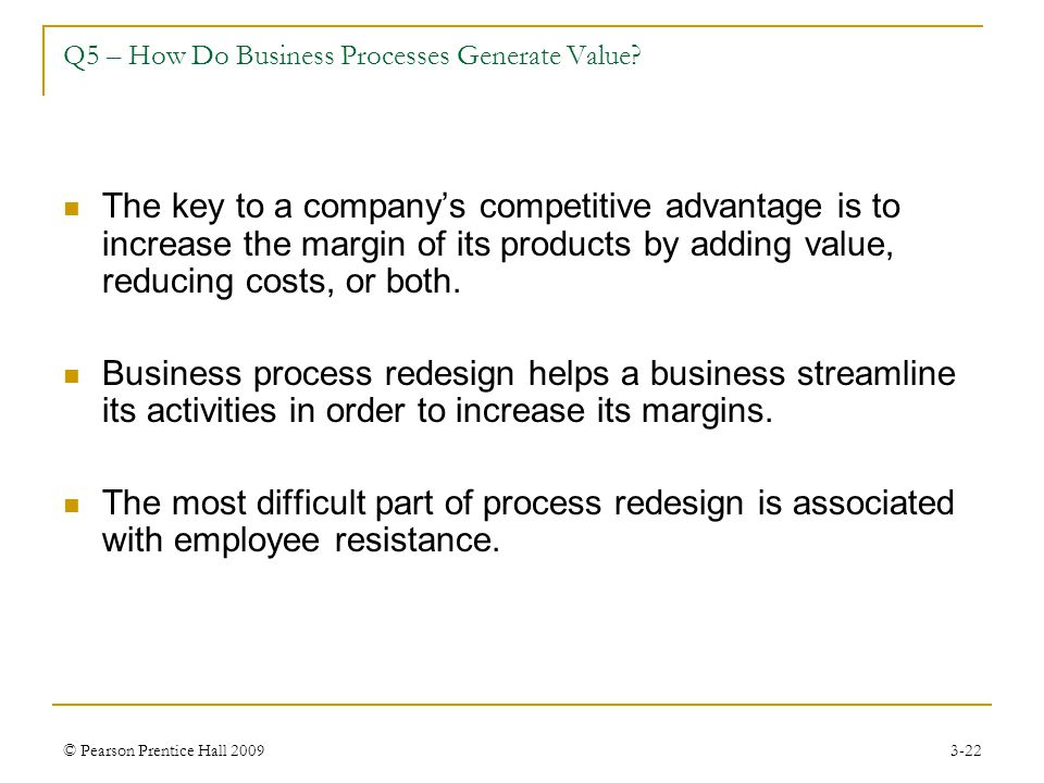 Q5 – How Do Business Processes Generate Value