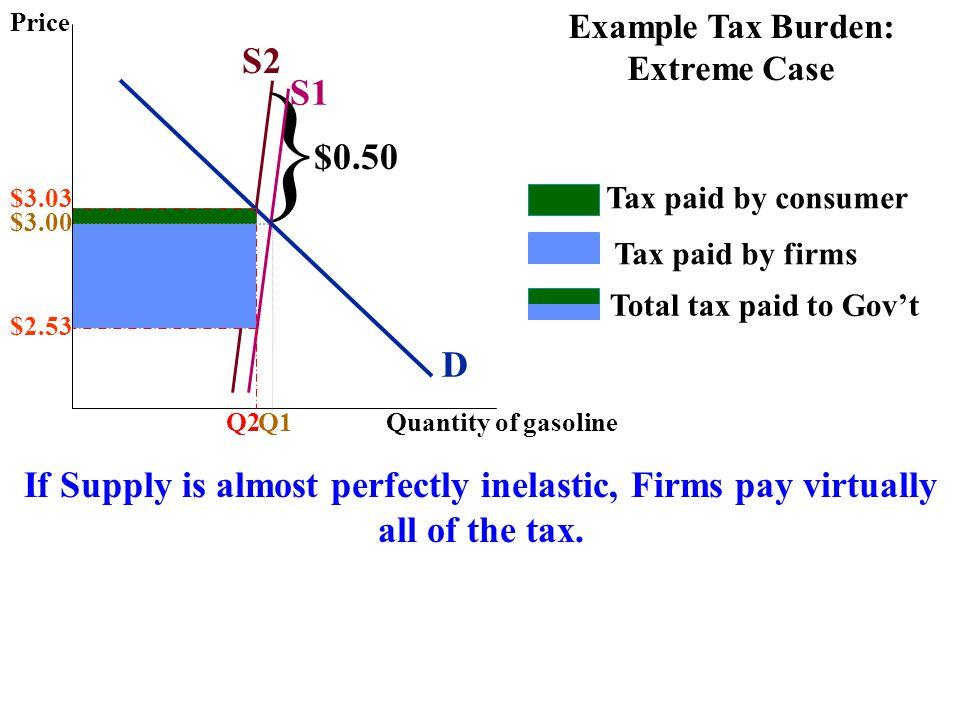 Example Tax Burden: Extreme Case