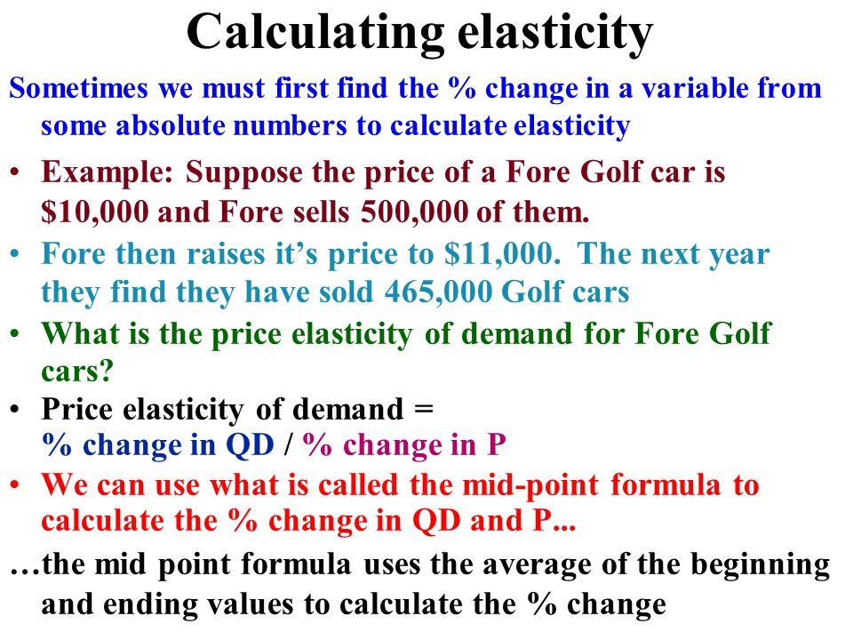 elasticity  concept  u0026 applications for demand  u0026 supply