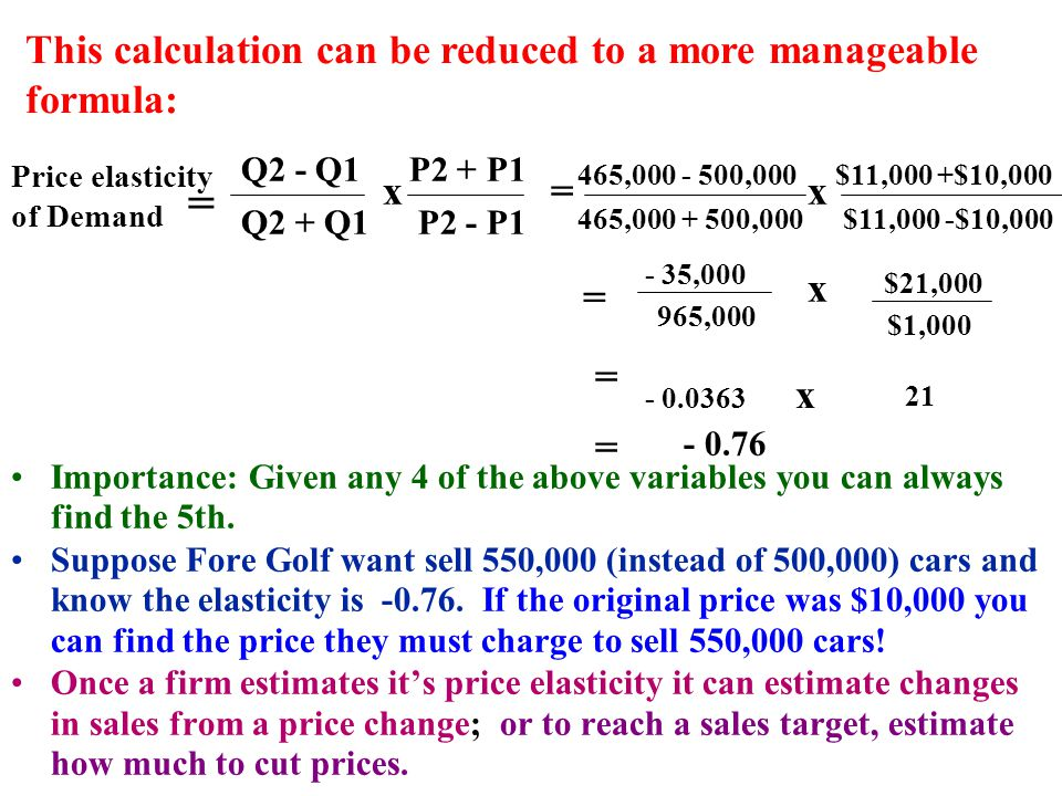 = This calculation can be reduced to a more manageable formula: x = x