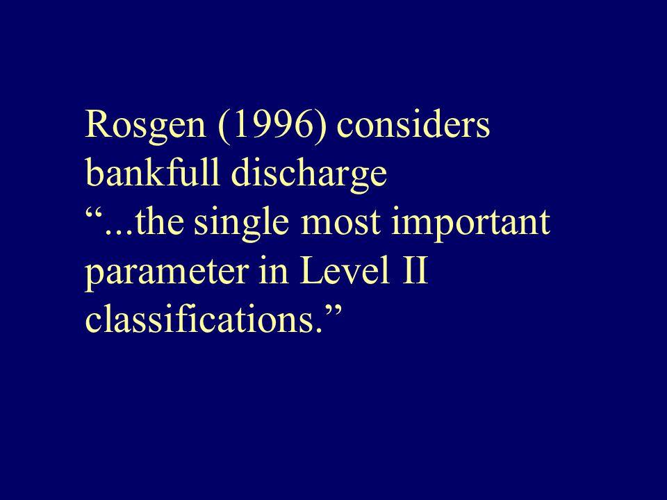 Rosgen (1996) considers bankfull discharge