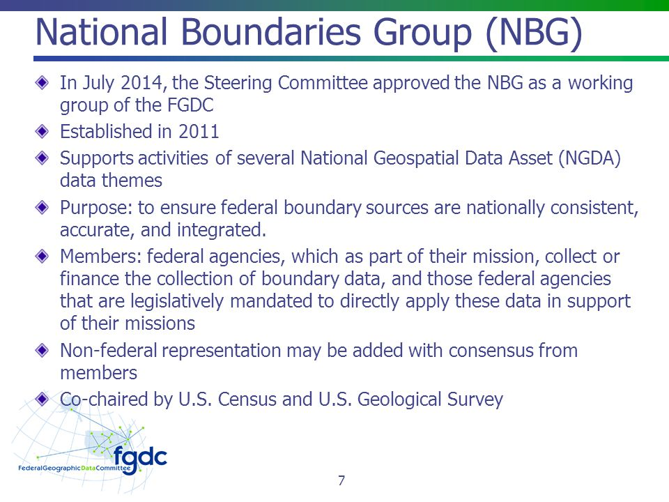 National Boundaries Group (NBG)
