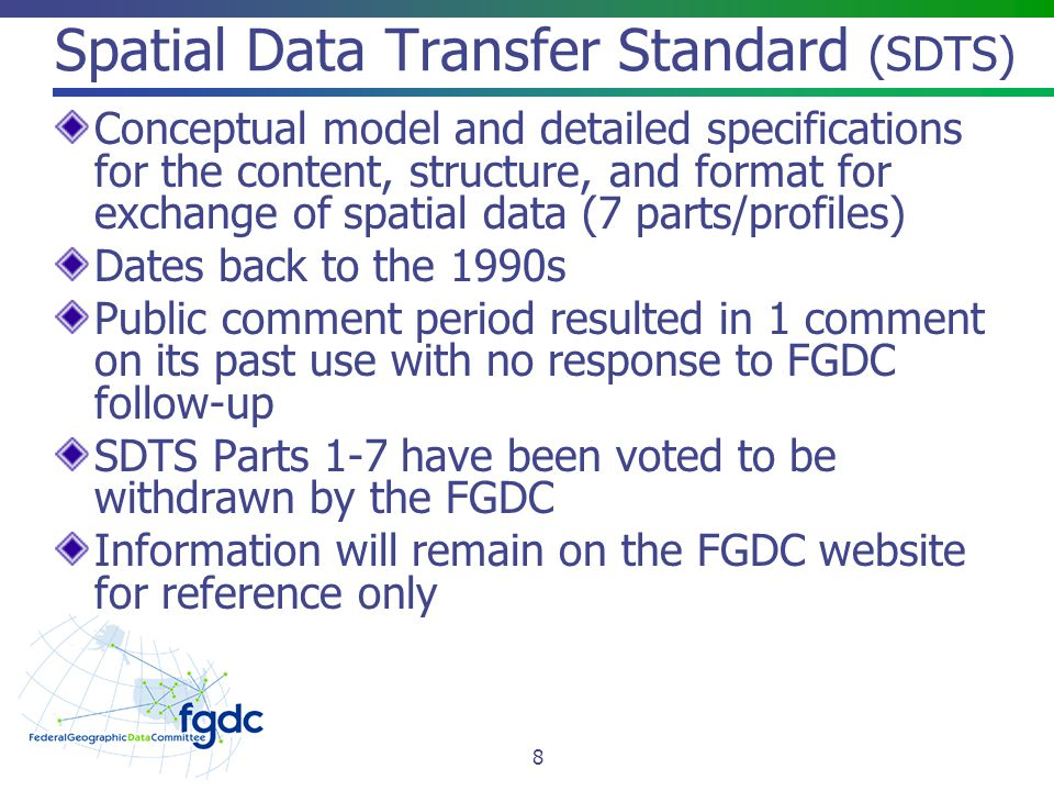 Spatial Data Transfer Standard (SDTS)