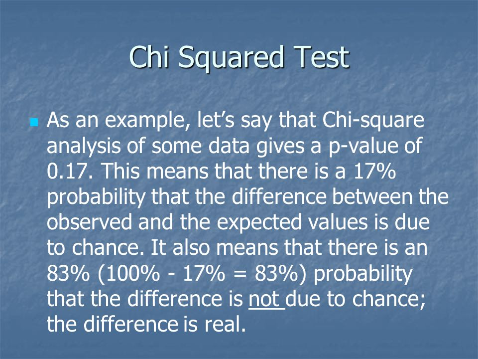 Chi Squared Test