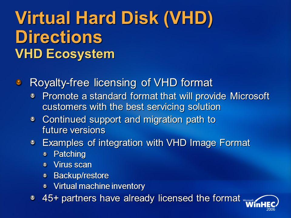 Virtual Hard Disk (VHD) Directions VHD Ecosystem