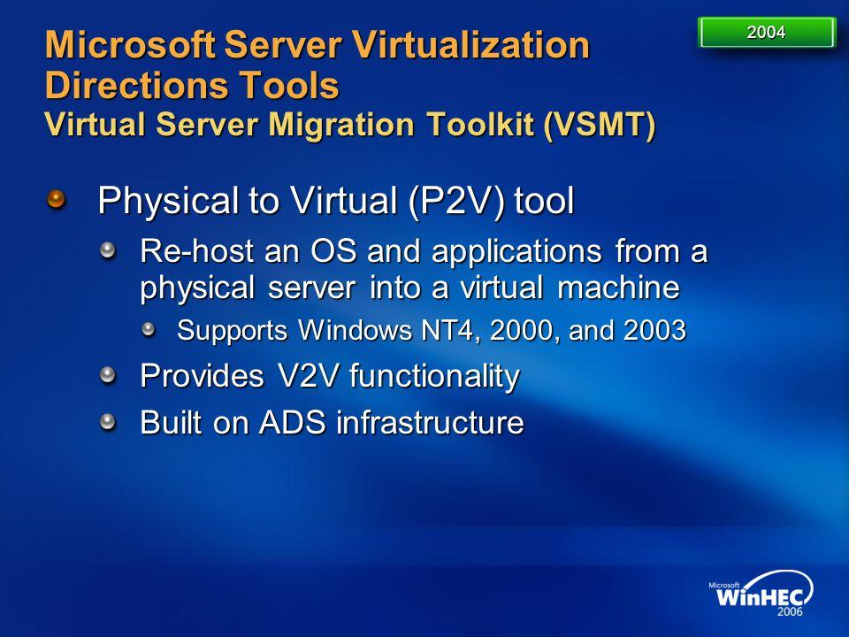Physical to Virtual (P2V) tool