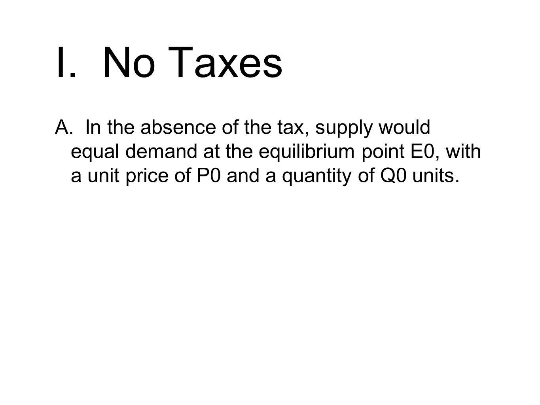 I. No Taxes