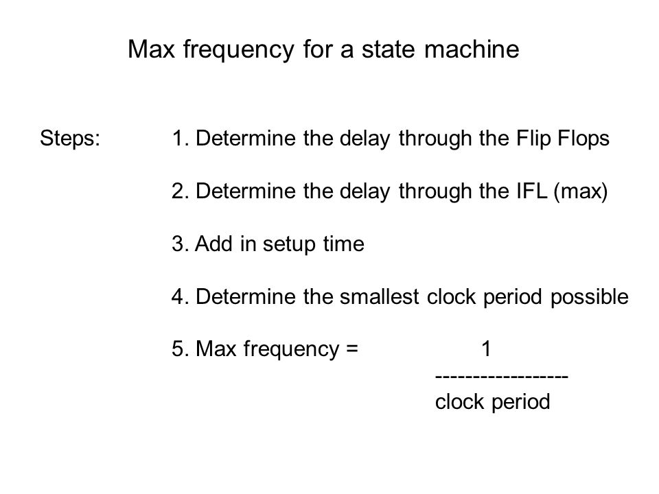 Max frequency for a state machine