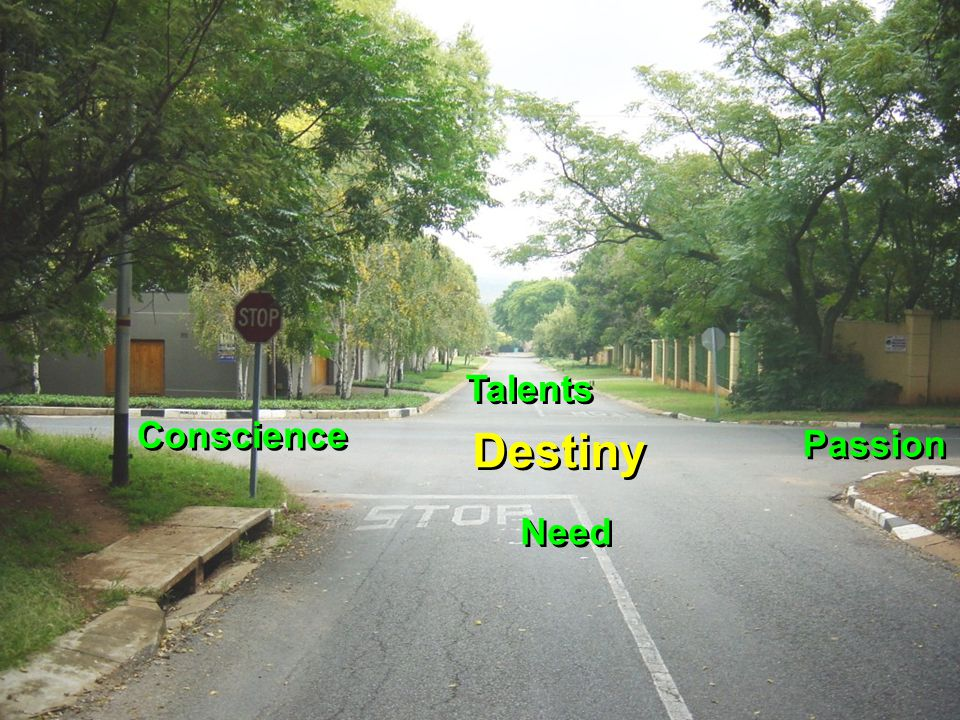 Talents Conscience Destiny Passion Need