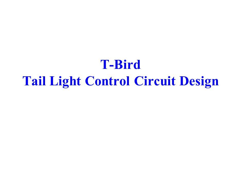 T-Bird Tail Light Control Circuit Design