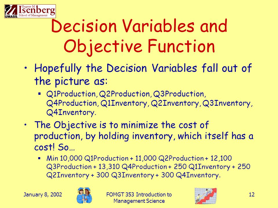Decision Variables and Objective Function